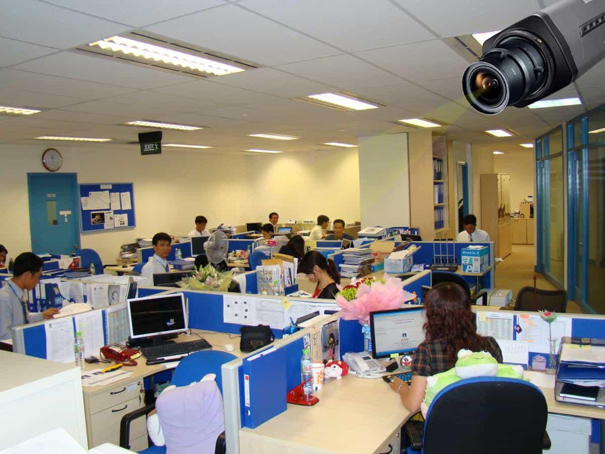 lắp đặt camera cho văn phòng, lap dat camera quan sat