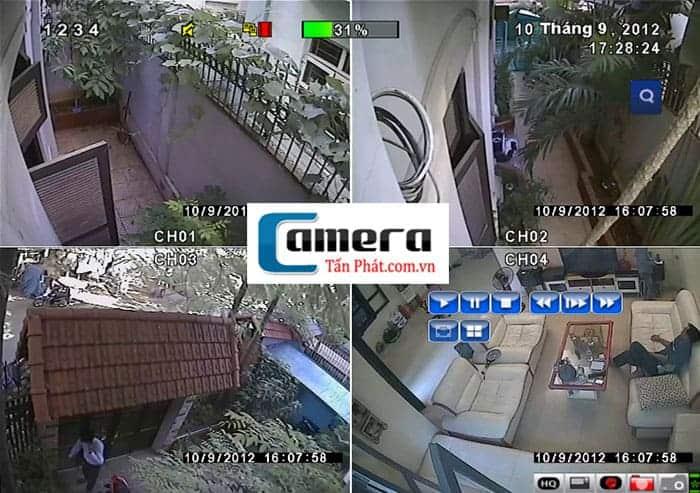 Lắp đặt camera quan sát cho hộ gia đình, nhà ở